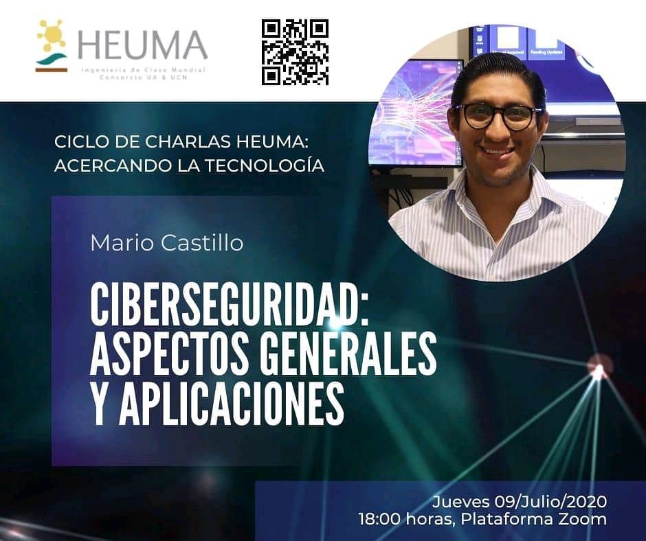 """Webinar """"Ciberseguridad: Aspectos Generales y Aplicaciones"""""""