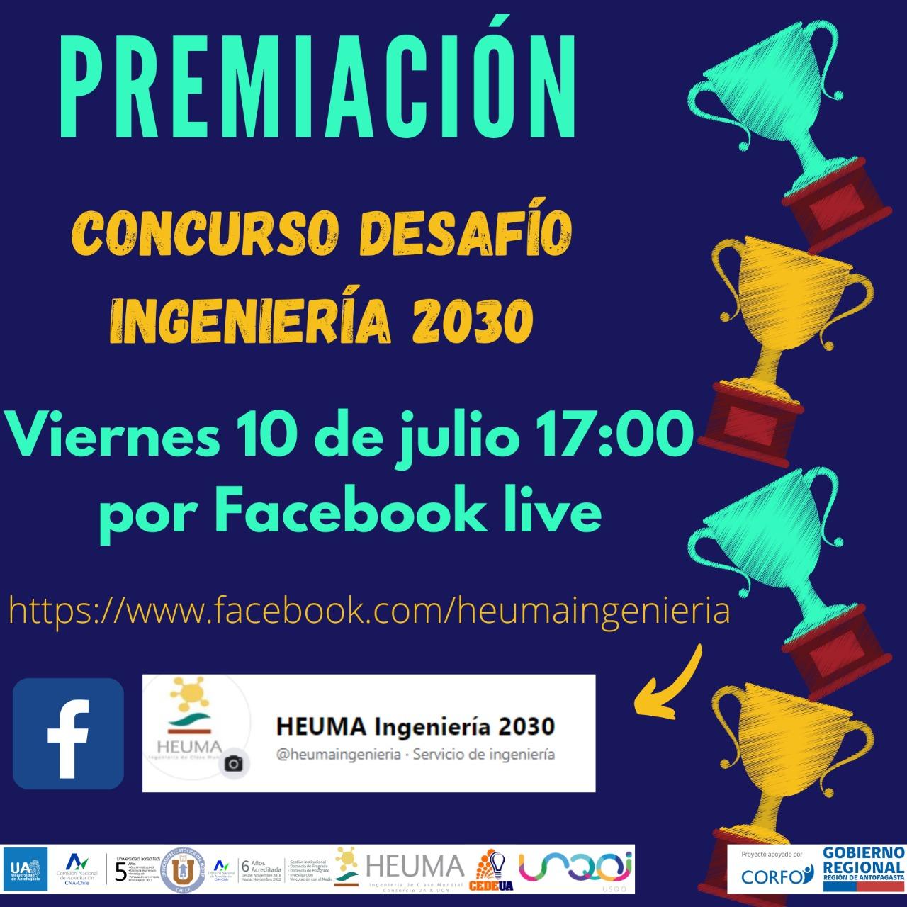 Premiación Concurso Desafío Ingeniería 2030